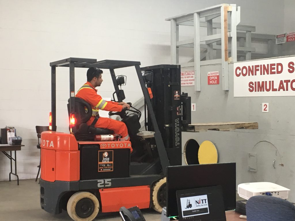 forklift training in Sudbury